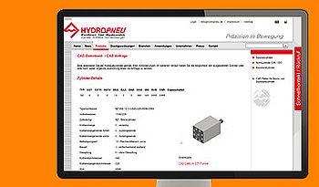 ccmagnus Webagentur - Hydropneu CAD-Datenbank / Konfigurator