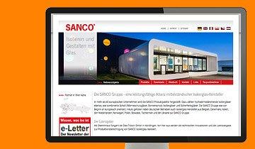 ccmagnus Webagentur - SANCO Glas